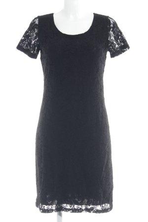 More & More Robe en dentelle noir motif de fleur élégant