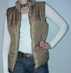 More & More Quilted Gilet light brown