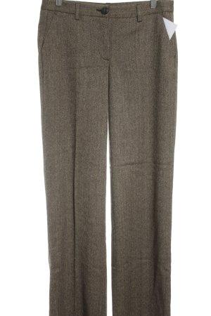 More & More Stoffhose beige-schwarzbraun Streifenmuster Business-Look