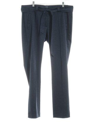 More & More Pantalon en jersey bleu foncé moucheté style d'affaires