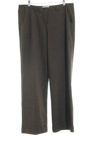 More & More Pantalon en jersey brun foncé style d'affaires