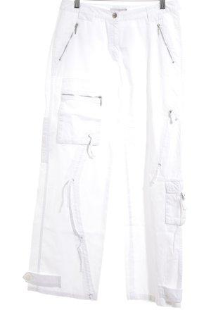 More & More Stoffen broek wit atletische stijl