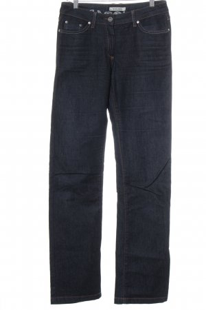 More & More Straight-Leg Jeans dunkelblau-orange Casual-Look