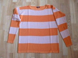 More & More Oversized trui licht Oranje-nude Gemengd weefsel
