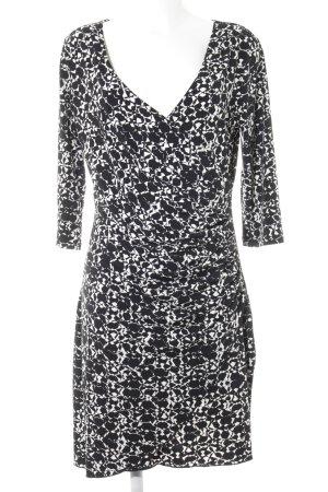 More & More Stretchkleid schwarz-weiß Allover-Druck Elegant