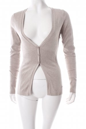 More & More Strick Cardigan grau-beige Nude-Look