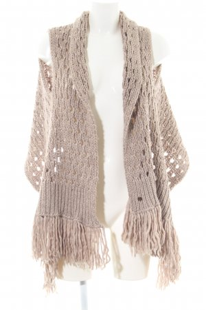More & More Knitted Bolero brown cable stitch casual look
