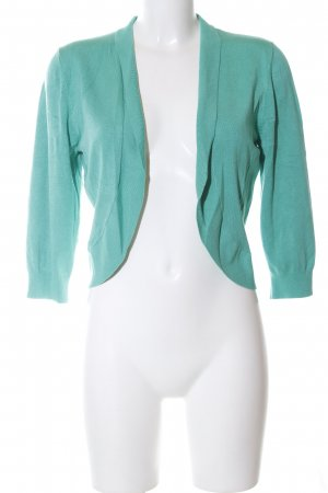 More & More Knitted Bolero turquoise casual look