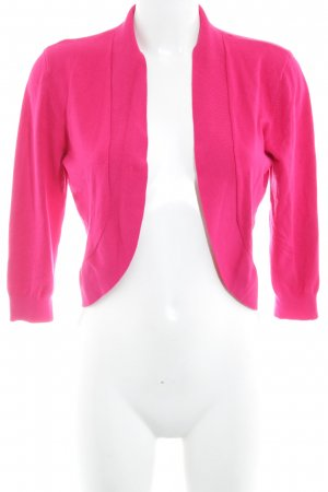 More & More Bolero lavorato a maglia rosso lampone stile semplice