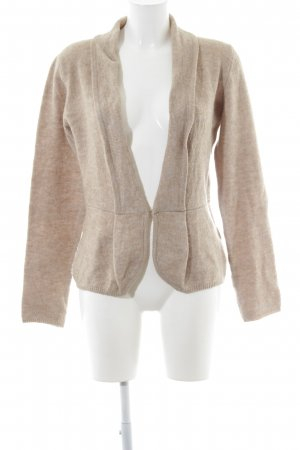 More & More Strickjacke beige meliert Casual-Look