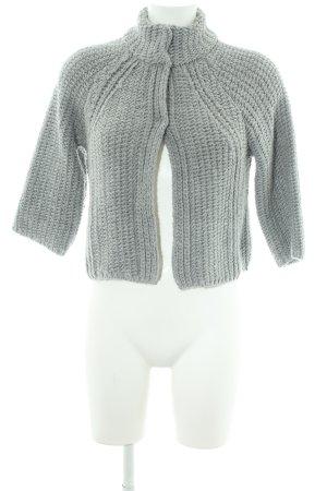 More & More Veste en tricot gris motif tricoté lâche style décontracté