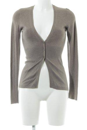 More & More Veste en tricot gris brun style décontracté