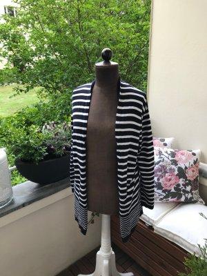 More & More Veste en tricot blanc-noir coton