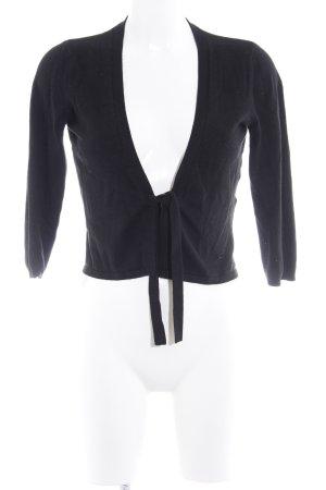 More & More Veste en tricot noir style décontracté