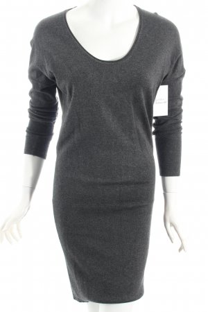 More & More Strickkleid grau meliert Casual-Look