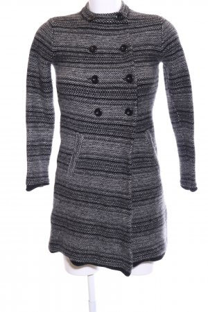 More & More Knitted Coat light grey striped pattern casual look