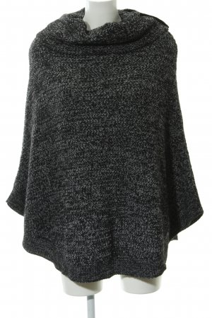More & More Poncho de punto negro-gris claro moteado look casual