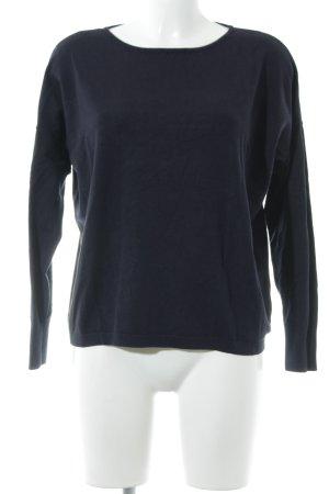 More & More Pull tricoté bleu foncé style décontracté
