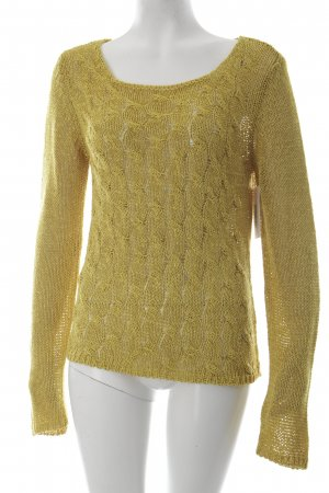 More & More Strickpullover dunkelgelb Casual-Look