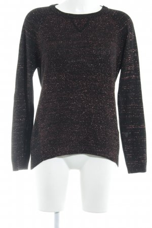 More & More Strickpullover schwarz-rot meliert Casual-Look