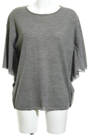 More & More Camisa tejida gris moteado look casual