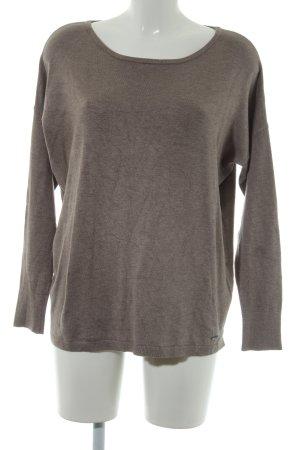 More & More Camisa tejida marrón grisáceo moteado look casual
