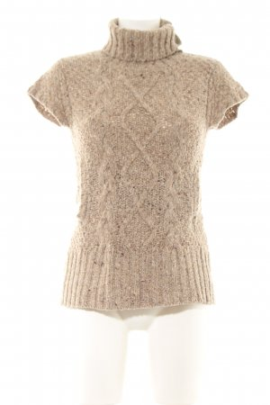 More & More Stricktop braun Zopfmuster Casual-Look