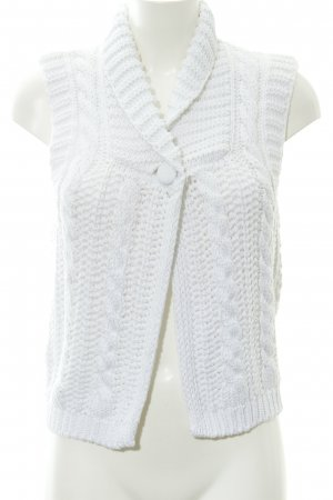 More & More Knitted Vest white weave pattern casual look
