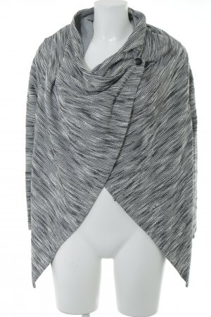 More & More Knitted Wrap Cardigan black-natural white simple style