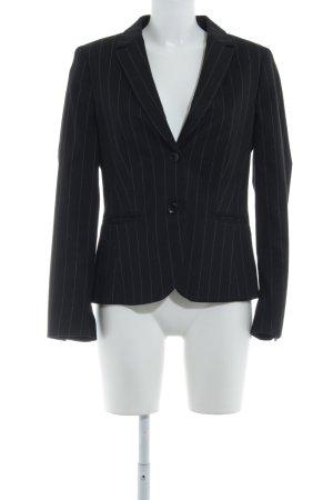 More & More Blazer sweat noir-gris clair rayure fine style d'affaires