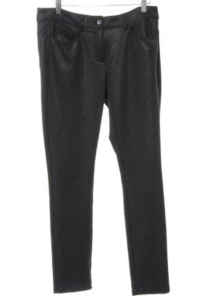 More & More Pantalon de jogging noir motif animal élégant