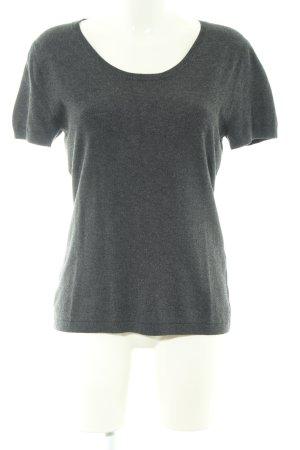More & More T-Shirt hellgrau meliert Casual-Look
