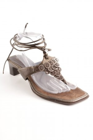 More & More T-Strap Sandals light brown casual look