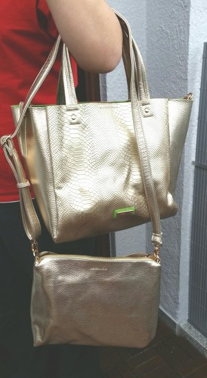 More & More Carry Bag gold-colored-green