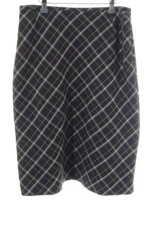 More & More Cirkelrok zwart-nude gestreept patroon zakelijke stijl