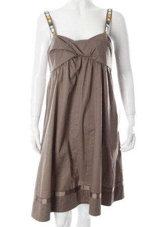 More & More Trägerkleid khaki klassischer Stil