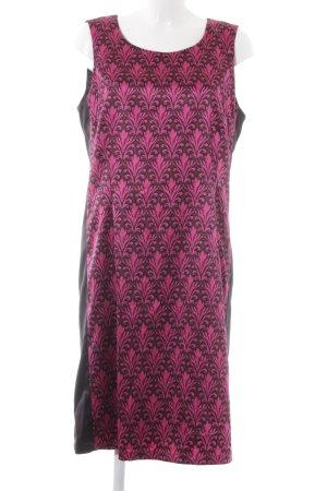 More & More Trägerkleid schwarz-pink abstraktes Muster extravaganter Stil