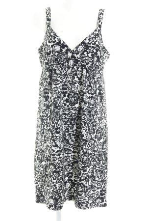 More & More Robe à bretelles blanc-noir motif floral style décontracté