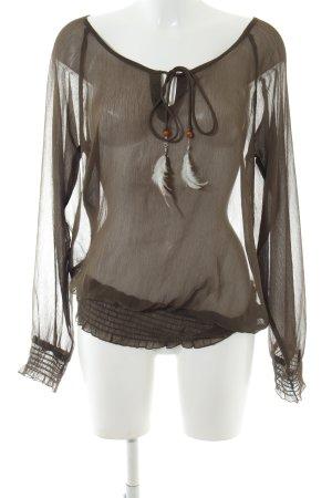 More & More Transparenz-Bluse schwarz extravaganter Stil
