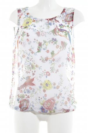 More & More Transparenz-Bluse florales Muster Casual-Look