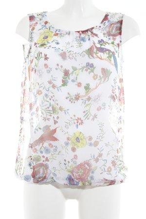 More & More Blouse transparente motif floral style décontracté