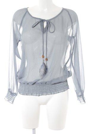 More & More Transparenz-Bluse graublau Elegant