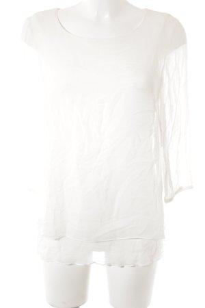 More & More Transparenz-Bluse wollweiß schlichter Stil