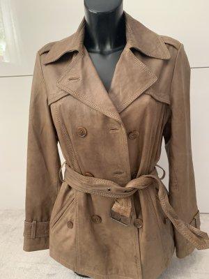 More & More Trenchcoat aus Leder