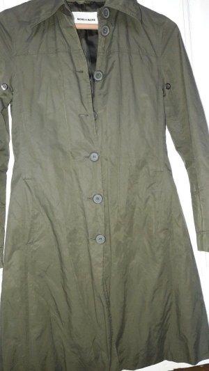 More & More Trenchcoat gris vert