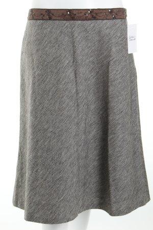 More & More Tulpenrock weiß-dunkelbraun meliert klassischer Stil