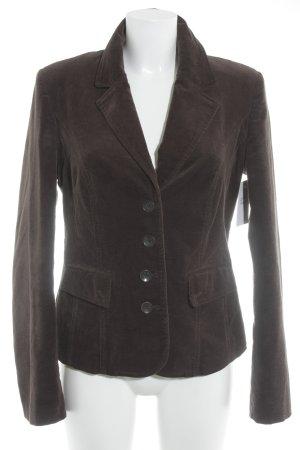 More & More Tweed blazer donkerbruin zakelijke stijl
