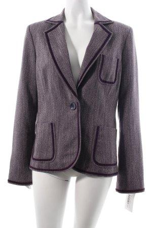 More & More Tweedblazer dunkelviolett-wollweiß meliert klassischer Stil