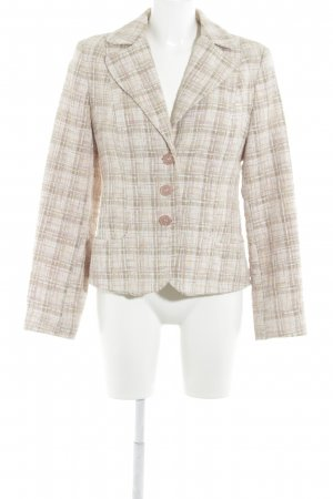 More & More Tweedblazer nude-grasgrün Business-Look