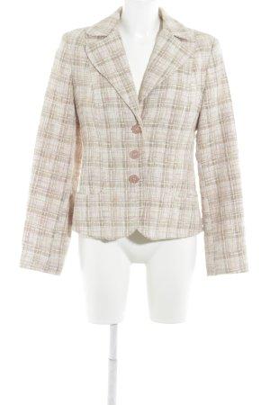 More & More Tweed blazer nude-grasgroen zakelijke stijl